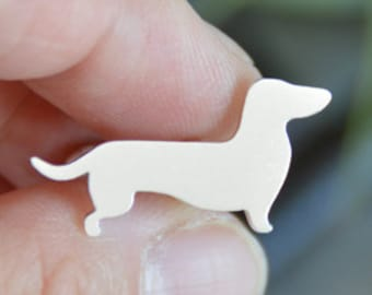 Handmade Cute Miniature Dachshund Cufflinks