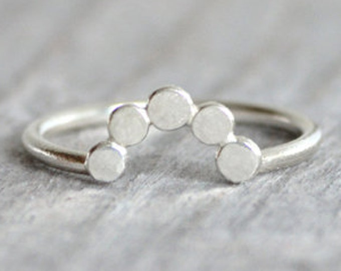 Contour Wedding Ring, Dewdrop Wedding Ring