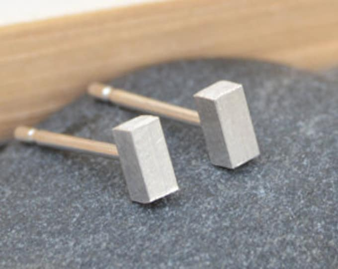 Little Stick Stud Earrings, Simple Bar Stud Earrings, Handmade in England