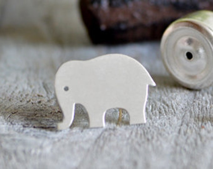 Elephant Tie Tack In Sterling Silver, Elephant Tie Pin In Sterling Silver, Handmade In England