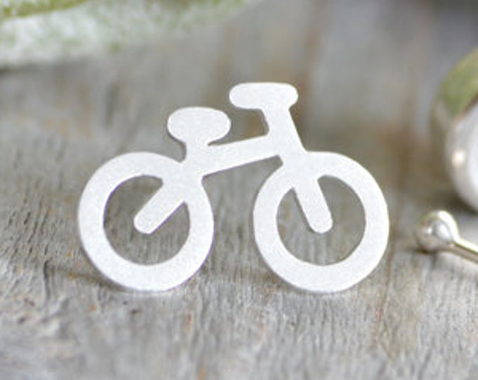 Bicycle Tie Tack in Sterling Silver, Personalized Bicycle Tie Tack, Personalized Tie Jewellery