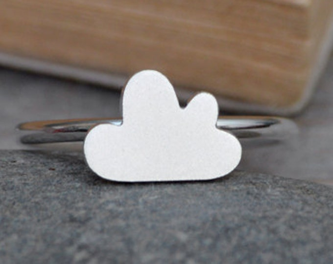 Fluffy Cloud Ring in Sterling Silver, Small Cloud Ring, Silver Cloud Ring