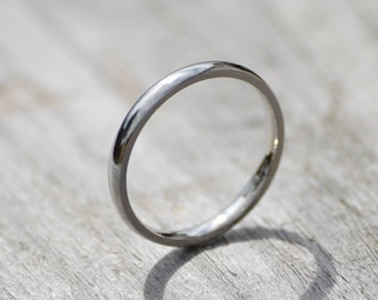 Platinum Wedding Band, Platinum Wedding Ring, 2mm Wide or 3mm Wide, Simple Wedding Ring, Ring For The Bride, Stackable Ring Made In UK