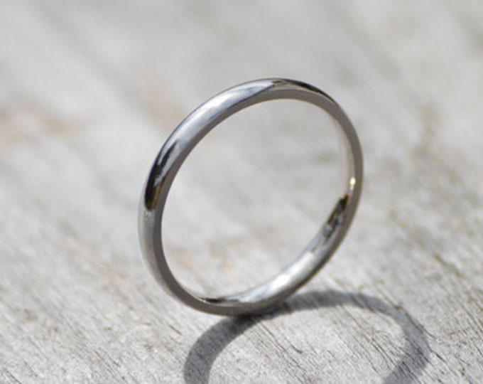 Platinum Wedding Band, Platinum Wedding Ring, 2mm Wide or 3mm Wide, Simple Wedding Ring, Ring For The Bride, Stackable Ring Made in the UK