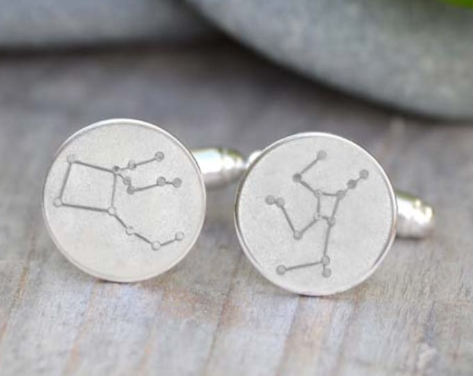 Constellation Cufflinks, Asterism Cufflinks in Sterling Silver