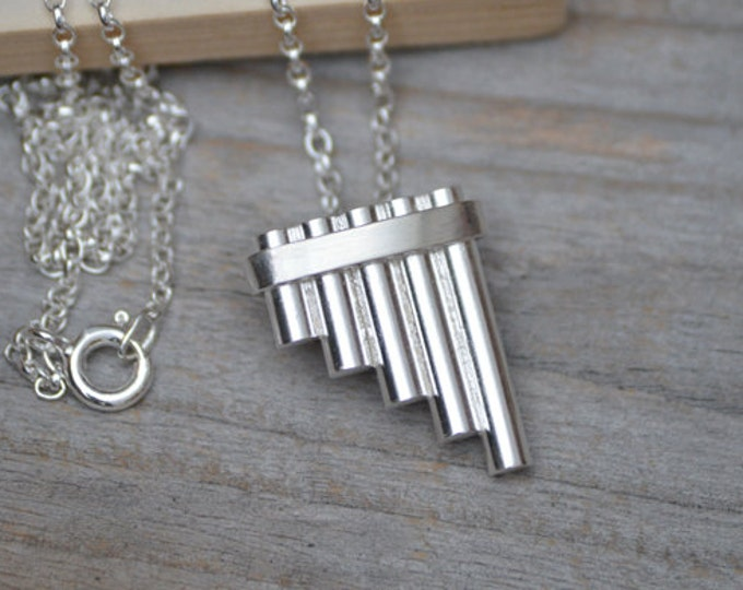 Peter Pan's Pipe Necklace In Solid Sterling Silver, Handmade In The UK