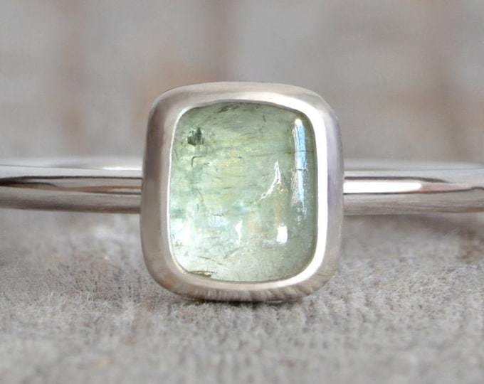 0.6ct Tourmaline Solitaire Ring in Sterling Silver, Handmade in the UK