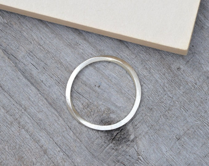 Inside Out Stacking Ring in Sterling Silver, Unique Stacking Ring, Everyday Stacker, Silver Stacker