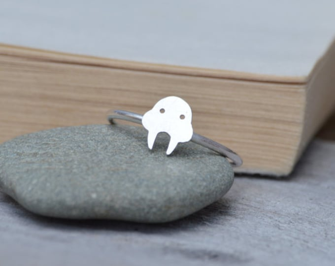 Walrus Ring in Sterling Silver, Handmade in The UK