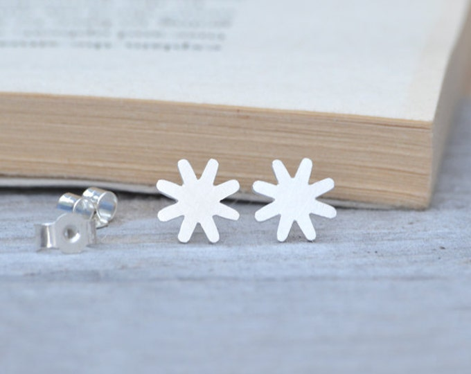 Star Stud Earrings Handmade in England