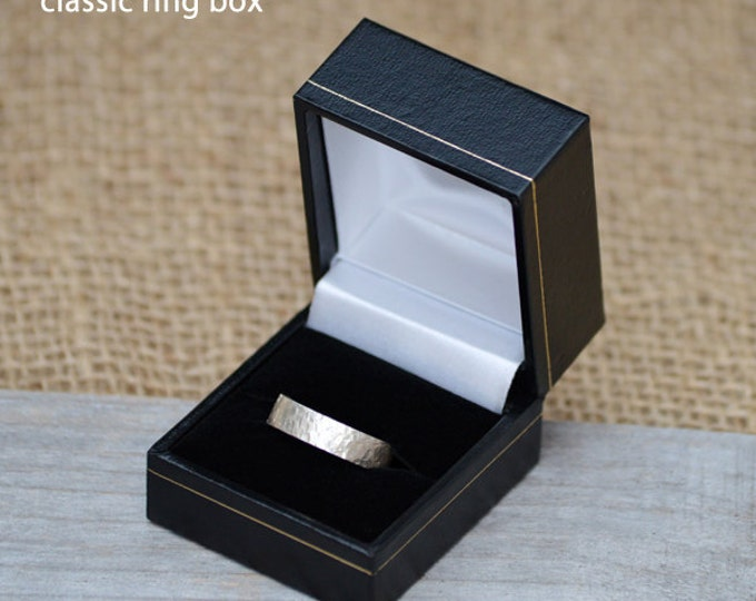 Classic Ring Box, Wooden Ring Box in Black, Presenting Your Gift, British Gift Box