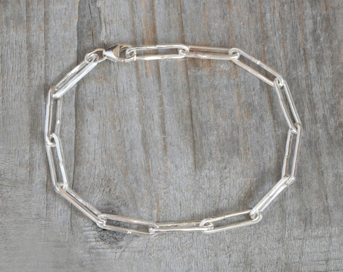 Rustic Bracelet in Sterling Silver Handmade in England