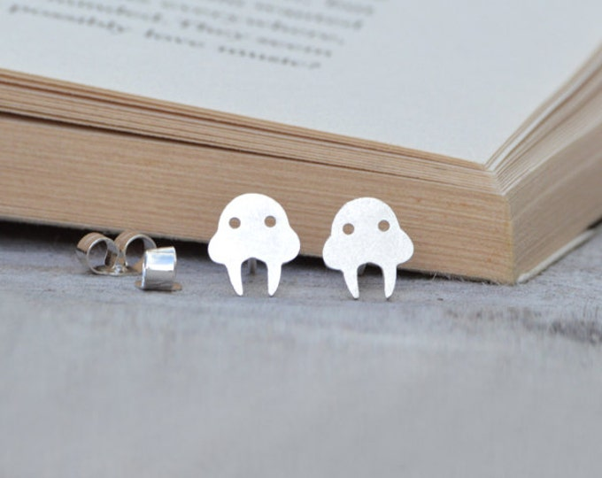 Walrus Earring Studs In Sterling Silver, Handmade In The UK