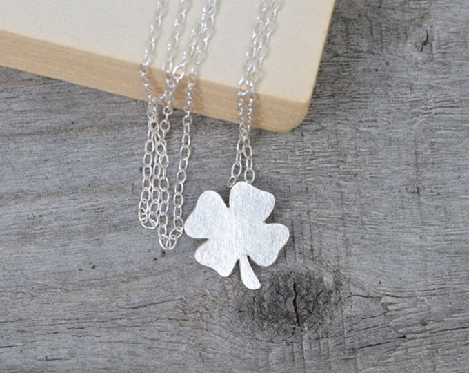 4 Leaves Lucky Shamrock Necklace, Lucky Clover Necklace Handmade in England