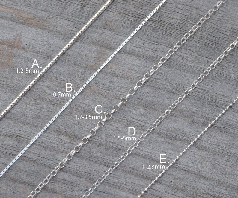 Solid Sterling Silver Chain Snake Chain Box Chain Diamond image 0