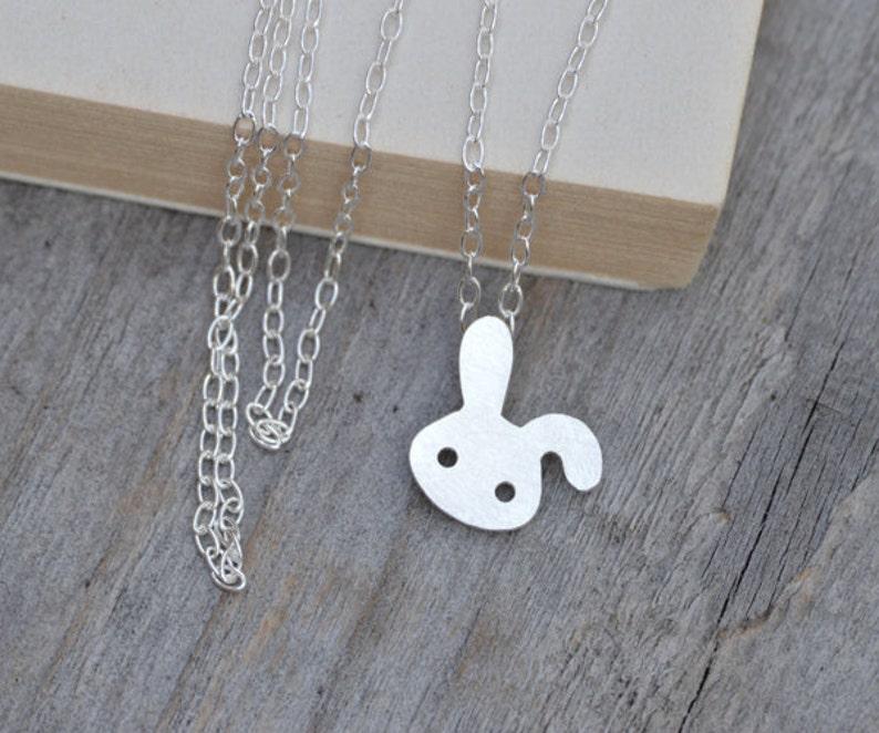 8ea34040847 Bunny Rabbit Necklace Floppy Ear Rabbit Necklace Spring   Etsy