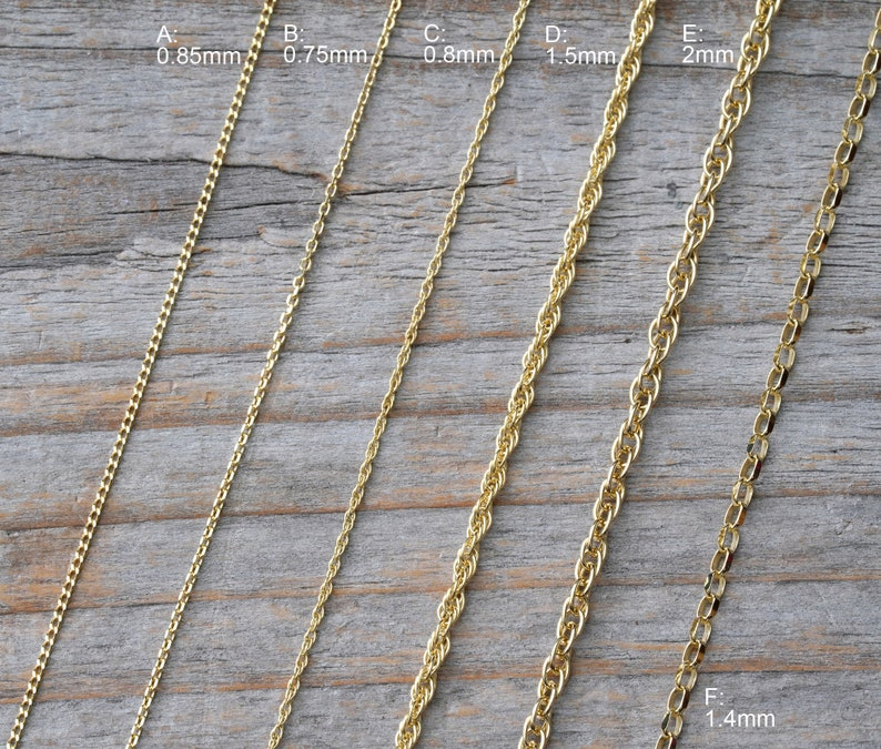Solid 9ct Yellow Gold Chain Curb Chain Belcher Chain And image 0