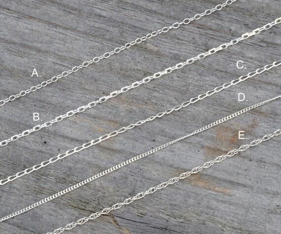 16 inch trace chain belcher style in sterling silver