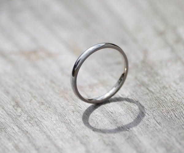 Platinum Wedding Band Platinum Wedding Ring 2mm Wide Or 3mm