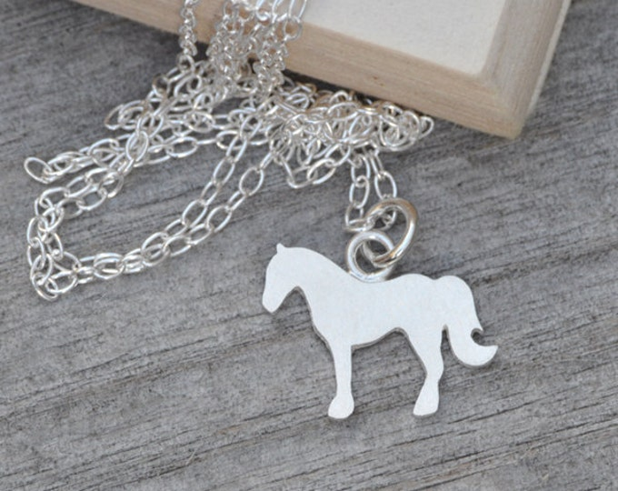 Horse Necklace in Sterling Silver, Silver Horse Necklace