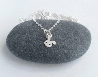 Bunny Rabbit Necklace, Floppy Ear Rabbit Necklace, Tiny Rabbit Necklace, Handmade In The UK