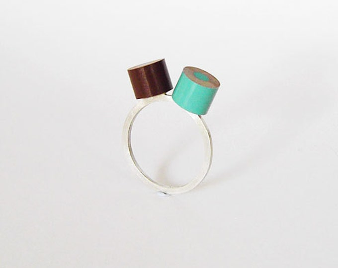 Colour Pencil Ring in Sterling Silver