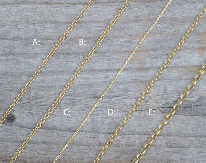 """Solid 9ct Yellow Gold Chain, Trace Chain And Belcher Chain, 16"""", 18"""", And 20"""", Made In England"""