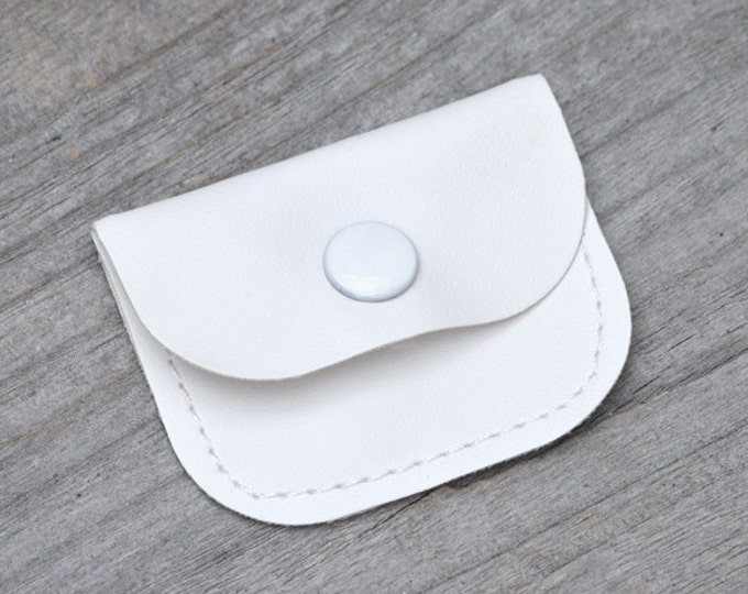 Jewellery Pouch in White, Jewellery Purse in White, Gift Purse