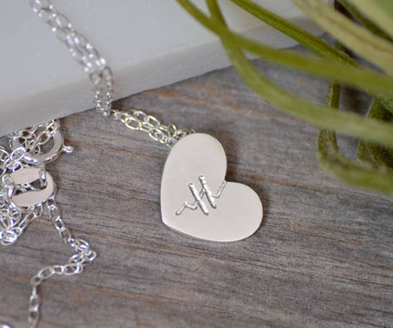 cd8d61f26a8 Mended Heart Necklace in Sterling Silver Handmade in England   Etsy