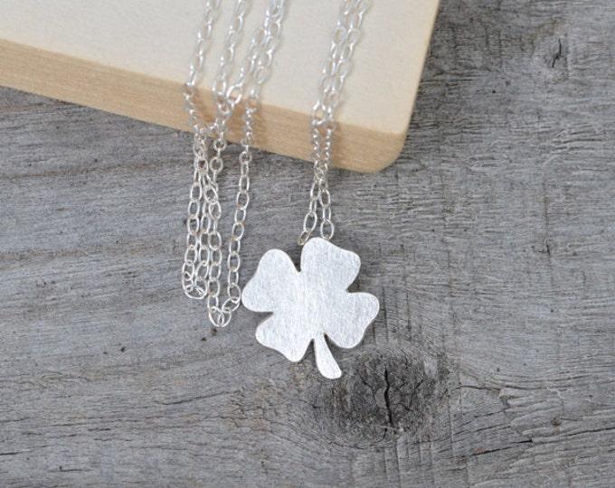 Lucky Shamrock Necklace, Lucky Clover Necklace