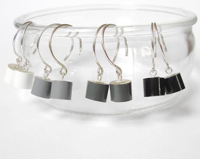 Colour Pencil Earrings, Black Pencil Earring, Grey Pencil Earring, White Pencil Earring
