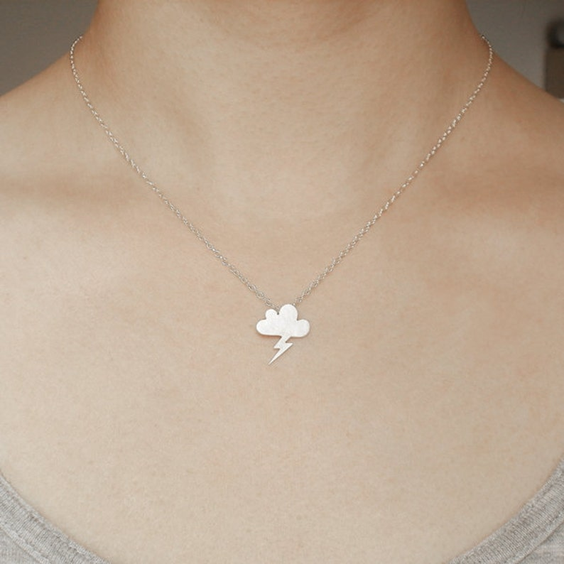 Lightning Cloud Necklace Weather Forecast Necklace Handmade in England