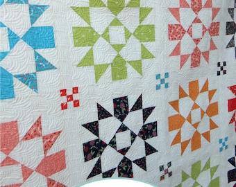 Starry Night quilt PDF pattern