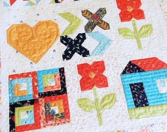 Happy Days Wall Hanging Quilt PDF Pattern