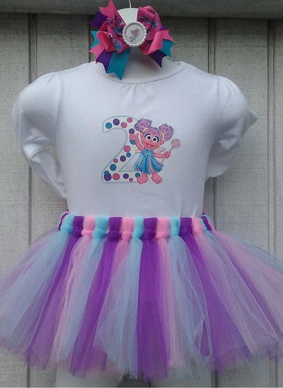 Abby Cadabby Birthday Birthday Tutu Outfit Birthday Outfit First Birthday 1st Birthday Smash Cake Outfit Sesame Street Outfit Sesame