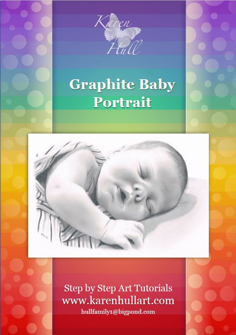 A baby Portrait in Graphite Pencil by Karen Hull Step by Step Art Tutorial