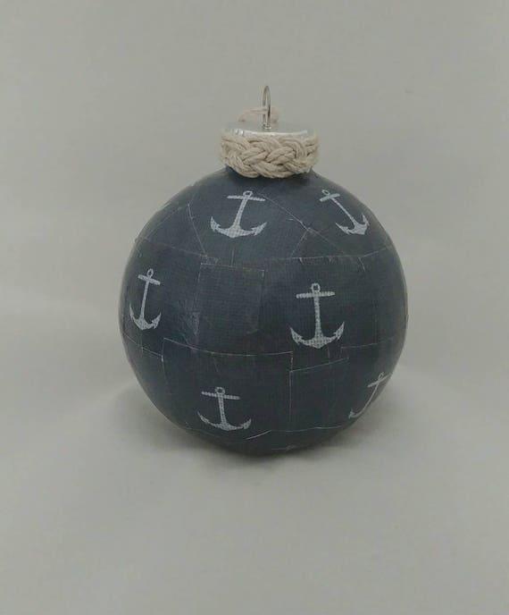 Nautical Christmas Ornament, Coastal Christmas Ornament, Navy Christmas  Ornament, Christmas Ornament, Nautical Decor, Anchor Ornament - Nautical Christmas Ornament Coastal Christmas Ornament Navy Etsy