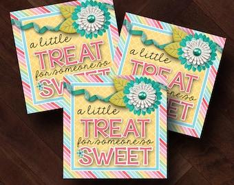 Printable Treat Tag, LDS Ministering Idea, Ministering Gift,Teacher Appreciation Week, Teacher Appreciation Gift, Thank You Gift, Printable