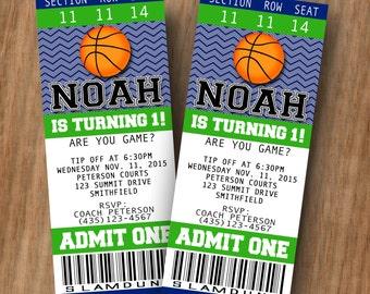 basketball birthday party invitation birthday invitation etsy
