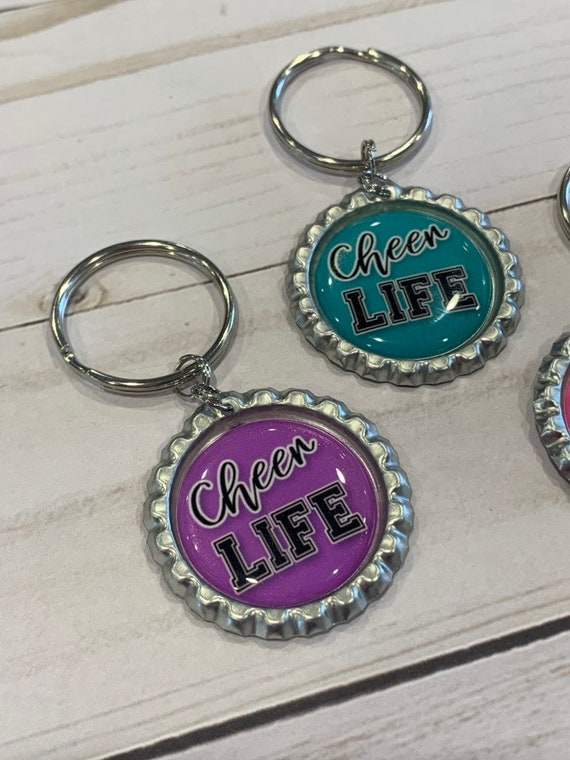 Cheer Life Bow Keychain