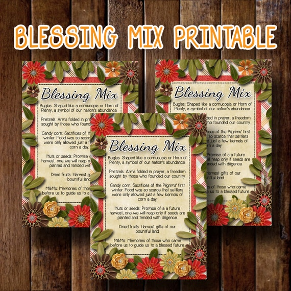 Blessing Mix Printable