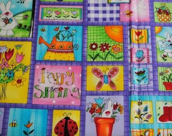 4 Fat Quarters OOP HTF Easter Spring has Sprung Fabrics
