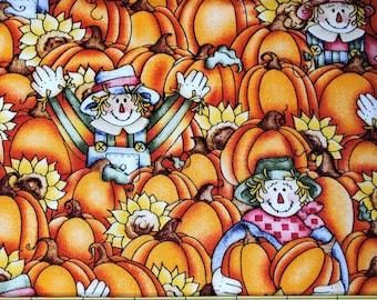 Fat Quarter Cute Scarecrows, Sunflowers and Pumpkins