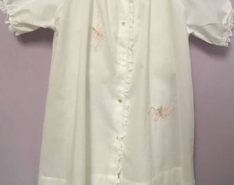 Hand Shadowworked daygown and Slip in pima cotton Batiste