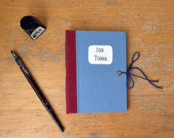 Reading planner  Book Journal. Notebook with hard cover for book lovers, readers, writers. Book with long stitch binding, reading planner