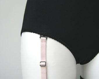 Sets Of Detachable Suspenders Garter Clips, Removable lingerie corset harness stockings clip pairs, Black pink multiple colour width options