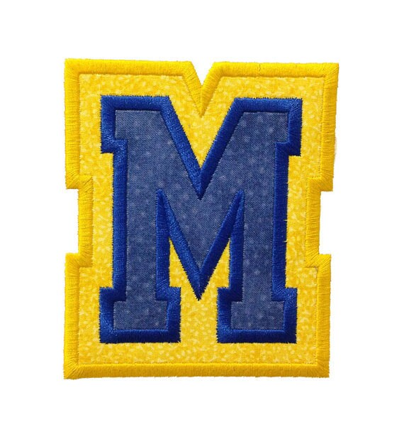 Double Varsity Letters , Iron On Applique Patch, Sew On, Custom Made, Embroidered, Patches