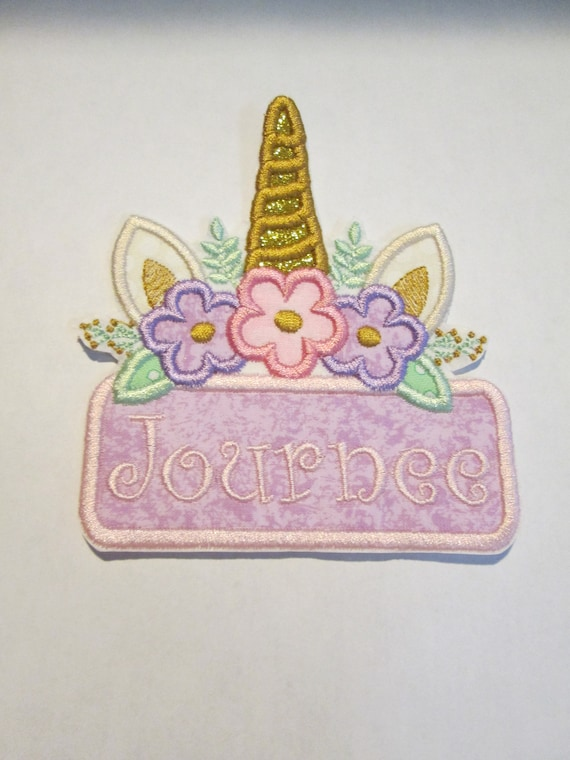 Character Name Plates - Iron On or Sew On Applique Patches - Embroidered - Handmade - Custom Made