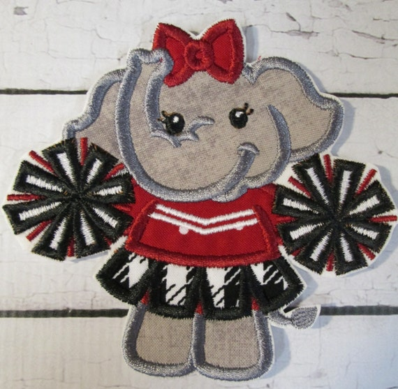 Elephant Mascot, High School. College Football, Team,Iron On Applique Patch, Sew On, Custom Made, Embroidered, Patches