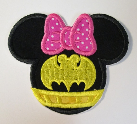 Iron On Applique - Mouse Girl or Boy Bat Mouse Head